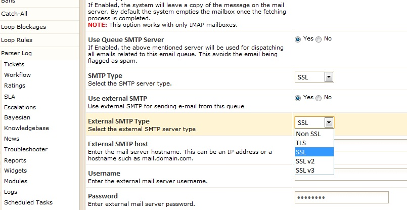 SMTP module for Kayako