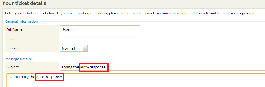 Submitting a ticket from Client CP